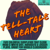 Tell Tale Heart. Adapted Close Read Halloween Fun. Full Un