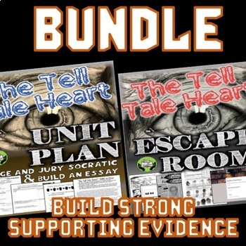 Tell Tale Heart BUNDLE: Unit Plan & Escape Room, Perfect for Halloween