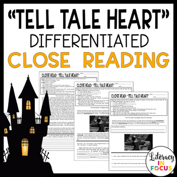 """Tell Tale Heart"" Differentiated Close Read (Explore Tone and Mood!)"
