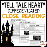 """""""Tell Tale Heart"""" Differentiated Close Reading (Printable & Digital)"""
