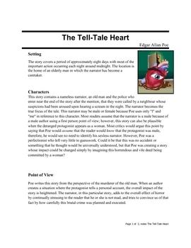 Tell-Tale Heart, Edgar Allan Poe class notes