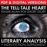 Tell-Tale Heart, Edgar Allan Poe's short story w/non-fiction & multimedia, CCSS