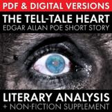 Tell-Tale Heart, Edgar Allan Poe's short story w/non-fiction & multimedia, CCSS
