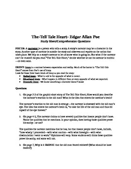 Tell-Tale Heart Guided Reading Questions