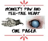 Tell-Tale Heart/Monkey's Paw Literary One-Pager