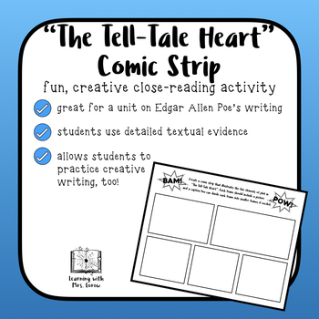 Tell Tale Heart Plot Structure Comic Strip
