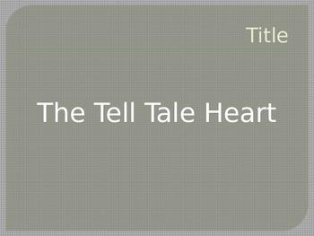 Tell Tale Heart (Poe) Pre-Reading Sort and Predict/Vocab Lesson