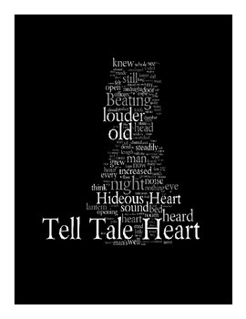Tell-Tale Heart Posters and Word Art (Edgar Allan Poe)
