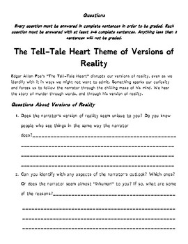 Tell Tale Heart: Reading Analysis