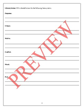 Tell Tale Heart Study Packet