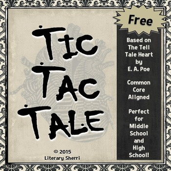 Tell Tale Heart by Edgar Allan Poe: Free Activities (Grades 7, 8, 9)