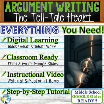 Tell Tale Heart by Edgar Allan Poe Text Dependent Analysis Argumentative Writing