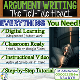 The Tell-Tale Heart   Citing Text Evidence Argument Essay   Print and Digital