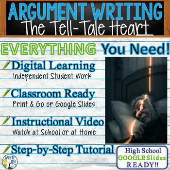 Tell-Tale Heart by Edgar Allan Poe Text Dependent Analysis Argumentative Writing