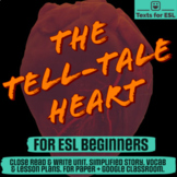Tell-Tale Heart by Poe. Adapted Close Read Halloween Fun.