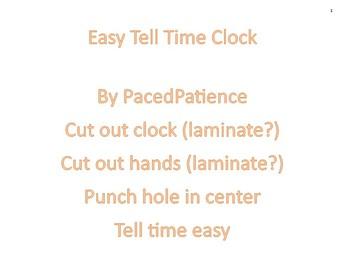 Tell Time Easy