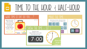Telling Time Hour And Half Hour Worksheets Scoot Activity Tpt
