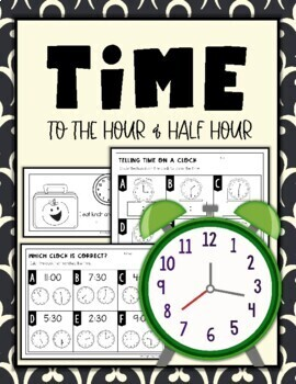 Telling Time: Hour and Half Hour Worksheets