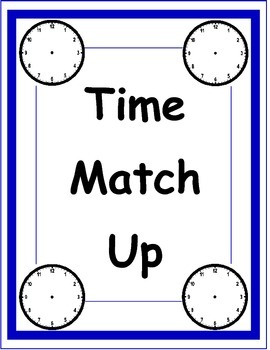 Tell Time Memory Match