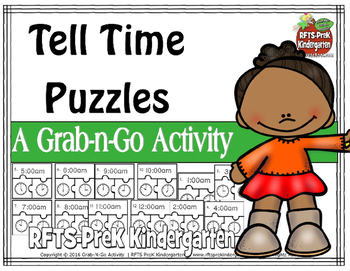 Tell Time Puzzles (Grab-n-Go $1 Deal)