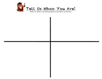 Tell Us Whoo You Are!  Owl theme