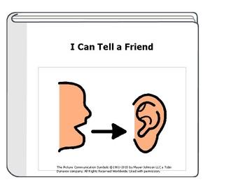 Tell a Friend Social Story