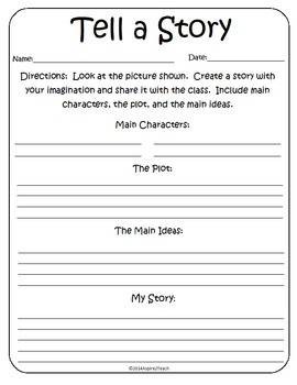 Tell a Story Writing Activity