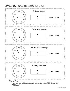Tell and Write Time: Worksheets and/or Mini-Books (Supports the Common Core)