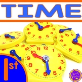 Telling Time to the Hour and Half Hour | Analog and Digital Clocks