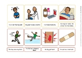 [SLP] 4 steps story sequencing & retell in English & Chinese. [Boardmaker pics]