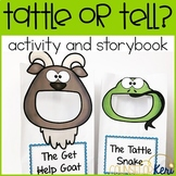 Tell or Tattle Activity Sort and Story Book for Elementary School Counseling