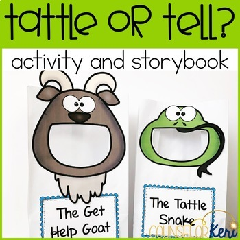 Tattling Activity Sort and Story Book for School Counseling