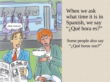 Tell time in Spanish
