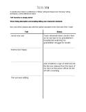 Tell vs. Show Writing Graphic Organizer