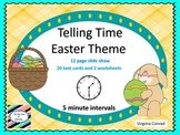 Telling Time to Five Minute Intervals--Easter Theme