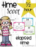 Telling Elapsed Time with a Game of Scoot analog, digital clocks (half hour)