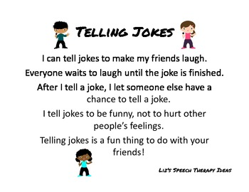 Telling Jokes in Speech Therapy