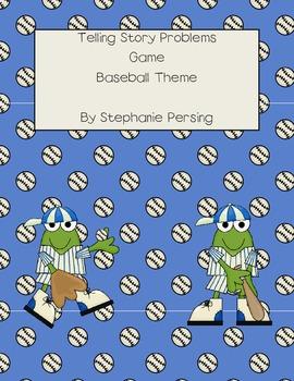 Telling Story Problems Game- Baseball Theme