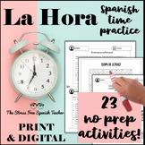 Telling TIME in Spanish PACKET of 17 activities!  La Hora, El Reloj, Los Numeros