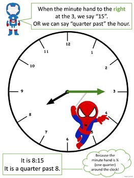 Telling TIME with Super Heroes