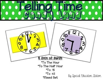 Telling Time Candy Land Cards