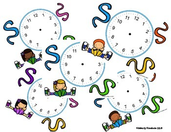 Telling Time Clock Spinners Bundle (Hour, Half, Quarter, 5 Mins, Nearest Min)