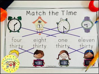 Telling TIme to the Half Hour Interactive Book