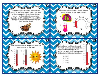 Telling Temperature Task Cards / SCOOT Review Game