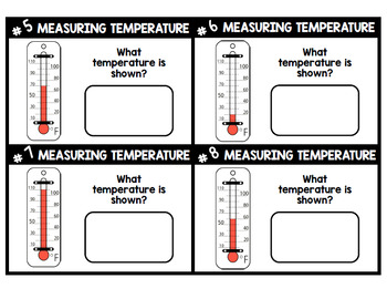 Telling Temperature - Thermometer - Life Skills - Special Education - Task Cards