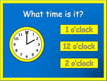 Telling Time PowerPoint Game .