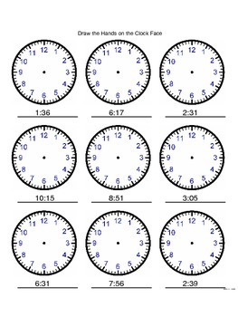 Telling The Time 1 Minute Increments