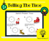 Telling The Time (Analogue) - Christmas Worksheet