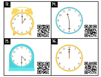Telling Time Task Cards or Scoot