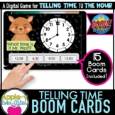 Telling Time - 1 Hour Intervals Digital Task Cards for Boo